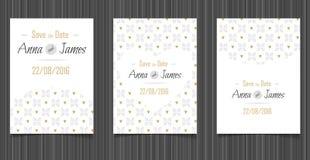 Invitation moderne de mariage avec une conception abstraite Images libres de droits