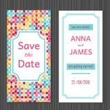 Invitation moderne de mariage avec une conception abstraite Photo libre de droits