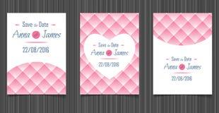 Invitation moderne de mariage avec une conception abstraite Photo stock