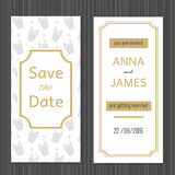 Invitation moderne de mariage avec une conception abstraite Image stock
