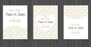 Invitation moderne de mariage avec une conception abstraite Images stock