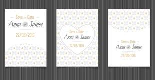 Invitation moderne de mariage avec une conception abstraite Photographie stock libre de droits