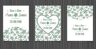 Invitation moderne de mariage avec une conception abstraite Photos stock