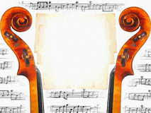 Invitation musicale Illustration Stock