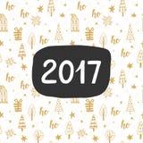 invitation new year έτος του 2017, εγγραφή χεριών Στοκ Φωτογραφίες