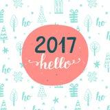 invitation new year Γειά σου 2017 Στοκ Φωτογραφίες