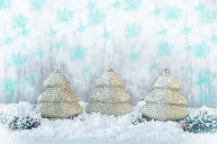 invitation new year χρυσό παιχνίδι Χριστουγέν&nu Στοκ εικόνα με δικαίωμα ελεύθερης χρήσης