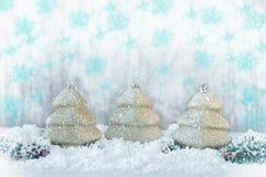 invitation new year игрушка рождества золотистая Стоковое Изображение RF