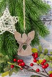 invitation new year Игрушки и оформление стоковые фотографии rf