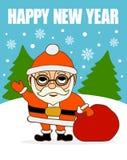 invitation new year мешок claus santa Стоковые Изображения RF