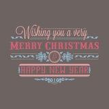 invitation new year Оформление праздника красочное литерность Стоковое Изображение RF