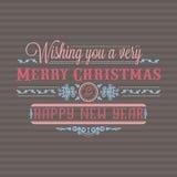 invitation new year Оформление праздника красочное литерность Стоковая Фотография