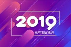 invitation new year Пурпур градиента формирует состав иллюстрация штока