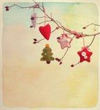 invitation new year 例证百合红色样式葡萄酒 被构造的纸水彩 免版税库存照片
