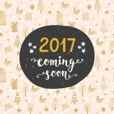 invitation new year 很快来2017的年 免版税库存照片
