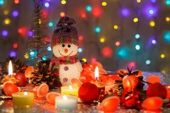 invitation new year 新年快乐和与圣诞节结婚 库存图片