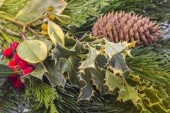 invitation new year 背景能圣诞节使用的例证主题 免版税库存照片