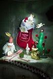 invitation new year Arkivbilder