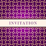 Invitation ornate red card Royalty Free Stock Images