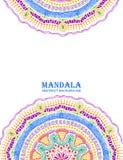 Invitation ou carte avec Mandala Design colorée Images libres de droits
