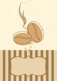 Invitation ou carte de carte de café Photo stock