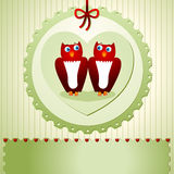 Invitation with owls Stock Images