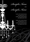 Invitation Panel. With Chandelier silhouette - text is easily removed in  format Royalty Free Stock Photos