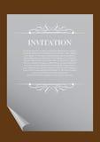 Invitation paper Stock Image