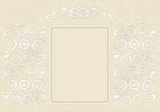 Invitation, picture, decorated with ornament Stock Photo