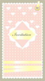 Invitation pink Royalty Free Stock Photo