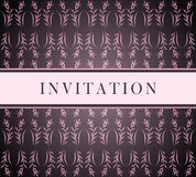 Invitation pink card Stock Images