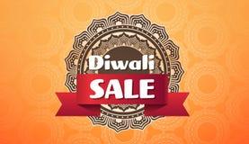 Invitation plate de calibre de carte de voeux d'ornement de grand de vente d'offre de festival de Diwali de célébration concept d illustration stock