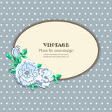 Invitation postcard floral Stock Photo