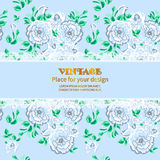 Invitation postcard floral Stock Images