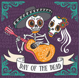 Invitation poster to the Day of the dead party Royalty Free Stock Image