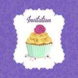 Invitation pour un anniversaire, mariage, Saint-Valentin, partie Image stock