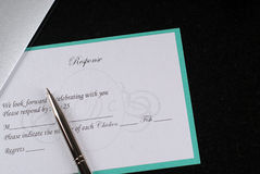 Invitation response. Shot of response for a wedding invitation Stock Image
