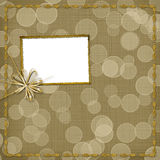 Invitation with ribbon and bow Royalty Free Stock Image