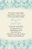 Invitation with a rich background in Renaissance style. Template. Framework Wedding invitations or announcements with vintage background artwork. Ornate damask Royalty Free Stock Images