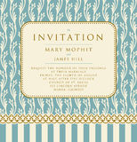 Invitation with a rich background in Renaissance style. Template Royalty Free Stock Photography