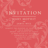 Invitation with a rich background in Renaissance style. Template Royalty Free Stock Images