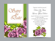 Invitation romantique Photos stock