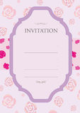 Invitation rose pink Royalty Free Stock Images