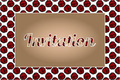 Invitation with roses design Royalty Free Stock Photo