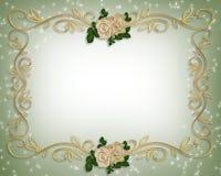 invitation roses victorian wedding Στοκ Εικόνα