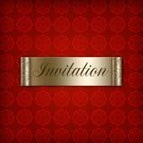 Invitation rouge Photos libres de droits