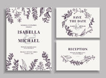 Invitation, save the date, reception card. Stock Photography