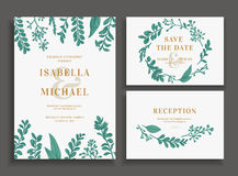 Invitation, save the date, reception card. Stock Photos