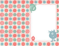 Invitation or scrapbook layout Royalty Free Stock Images