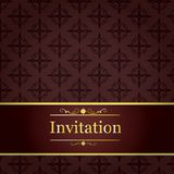 Invitation seamless pattern wallpaper Royalty Free Stock Photos